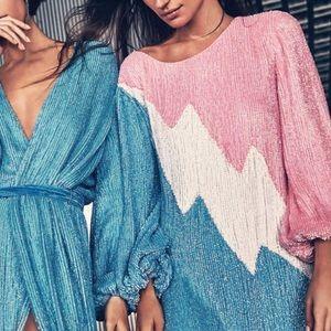 Dresses - [Retrofête] Grace Sequin Colorblock Mini Dress